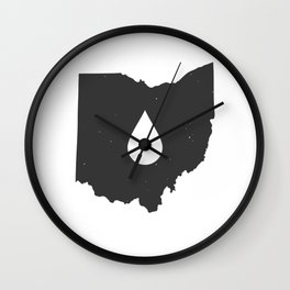 Ohio Drip Wall Clock