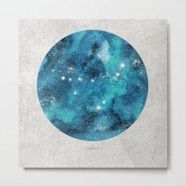Capricorn zodiac constellation on light Metal Print