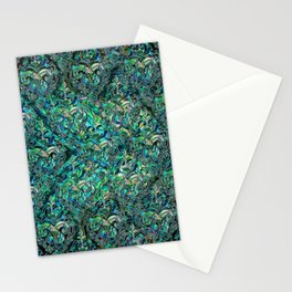 Persian Oriental pattern abalone and silver Stationery Cards