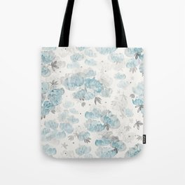 Watercolor Peonies Floral Pattern Tote Bag