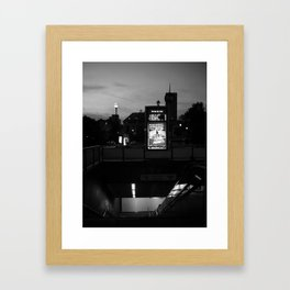 Brussels City by Night Framed Art Print