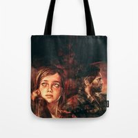 road Tote Bags featuring The Road Less Traveled by Alice X. Zhang