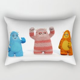Yeti Attack Rectangular Pillow