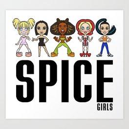 Spice Girls Group Art Print