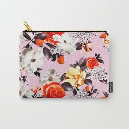 Photographic summer florals - D&G inspired - PINK Carry-All Pouch