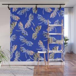 Dragonflies Blue Wall Mural