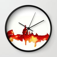 rome Wall Clocks featuring Rome by Talula Christian