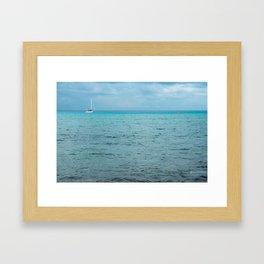 Cozumel Blue Framed Art Print