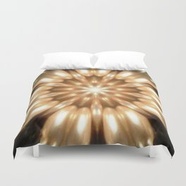 Luxurious Antique Pearls Kaleidoscope Duvet Cover