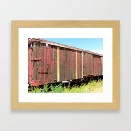 Wooden Rail Car. Framed Art Print
