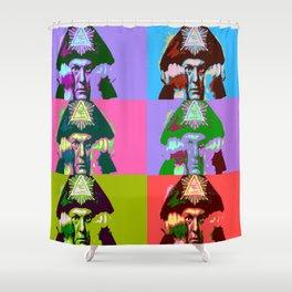 Aleister Crowley Pop Art Shower Curtain