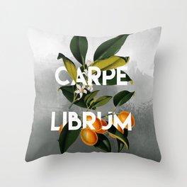 Seize the Book Throw Pillow