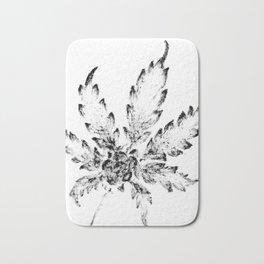 Black & White (Cannabis Resin Leaf) Bath Mat