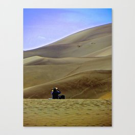 Alone on the Sand Dunes. Canvas Print