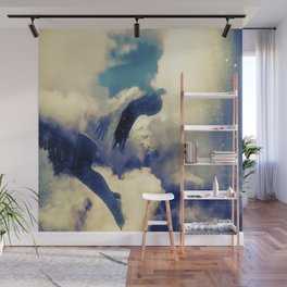 Woman and sky Wall Mural