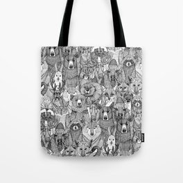 canadian animals black white Tote Bag