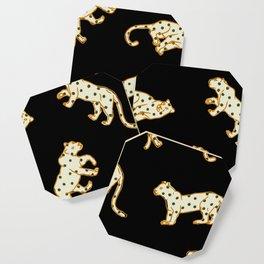 Leopard at Night Coaster
