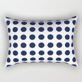 Simply Polka Dots in Nautical Navy Blue Rectangular Pillow