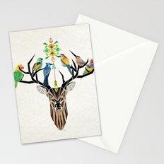 deer birds Stationery Cards