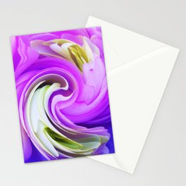 308 - Flowers abstract design Stationery Cards