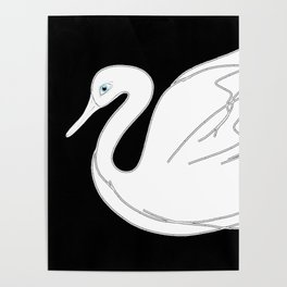 Digital Swan. Antigravity. Poster