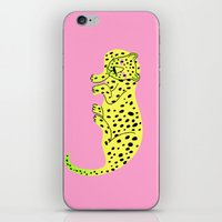 leopard iPhone & iPod Skins featuring Leopard by Karin Soderquist