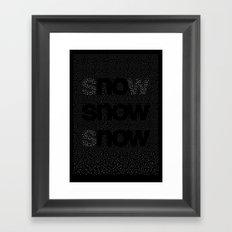 no snow now Framed Art Print
