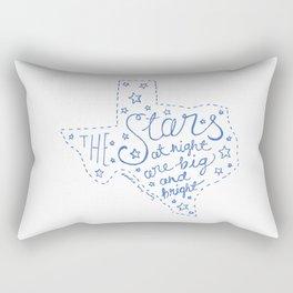 Stars at Night in blue Rectangular Pillow