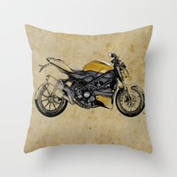 ducati Throw Pillows featuring Ducati Streetfighter 848, 2012 by Larsson Stevensem