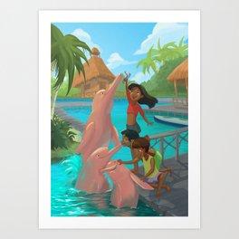Dolphins fun! Art Print