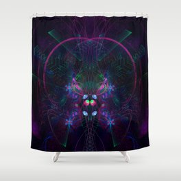 Flying Geometry Shower Curtain