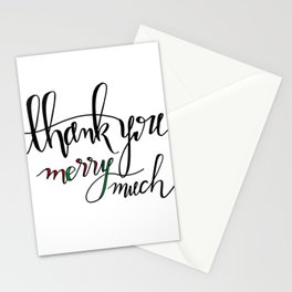 Thank You Merry Much Stationery Cards