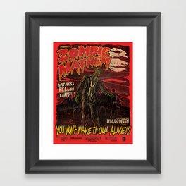 Zombie Mayhem! Framed Art Print
