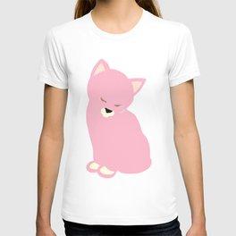 cat pink T-shirt