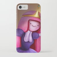 princess bubblegum iPhone & iPod Cases featuring Princess Bubblegum by Niniel