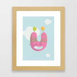 letter U Framed Art Print