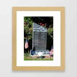 Hood Park Memorial -vertical Framed Art Print
