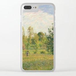 """Camille Pissarro """"Le pré à Éragny, été, soleil, fin d'après-midi"""" Clear iPhone Case"""