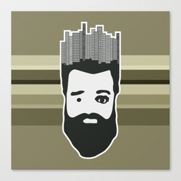 City woodcutter Canvas Print