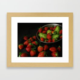 Strawberries and Pears Framed Art Print