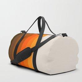 Retro Golden Rainbow - Straight Duffle Bag