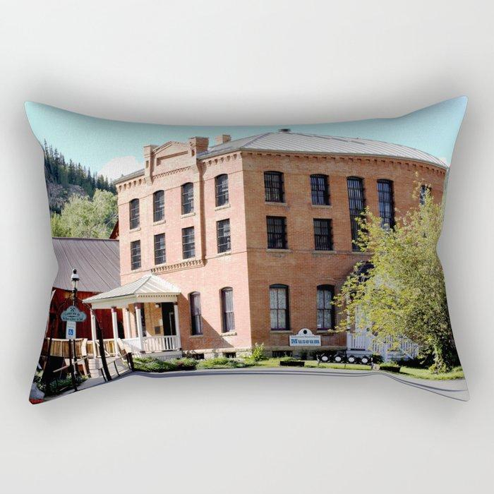 Silverton Mining Museum and Old Jail Rectangular Pillow