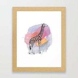 Judgemental Giraffe Framed Art Print