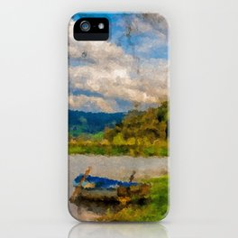 Boat on Water iPhone Case