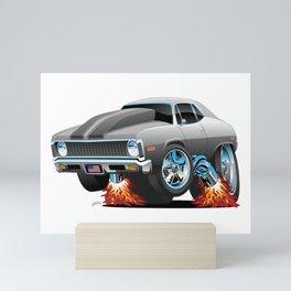 Classic American Muscle Car Hot Rod Cartoon Mini Art Print