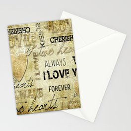 Arrow in the heart Stationery Cards
