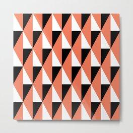 Geometric Pattern 78 (salmon pink triangles) Metal Print
