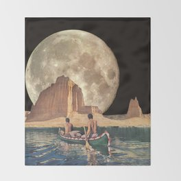 MOON RIVER Throw Blanket