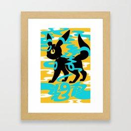 #197 - Umbreon (shiny ver.) Framed Art Print