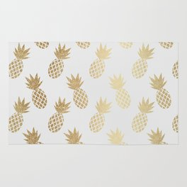 Gold Pineapple Pattern Rug